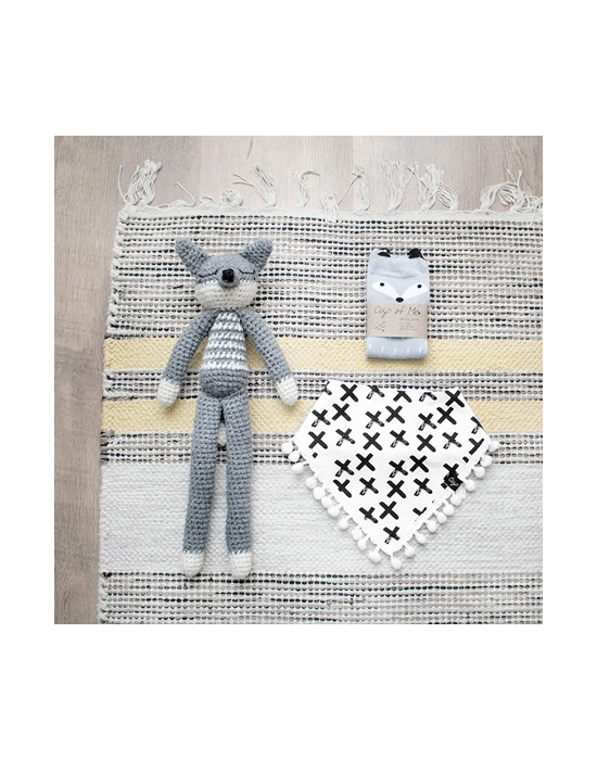 Crochet Fox Grey